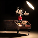 Mickey in spotlight